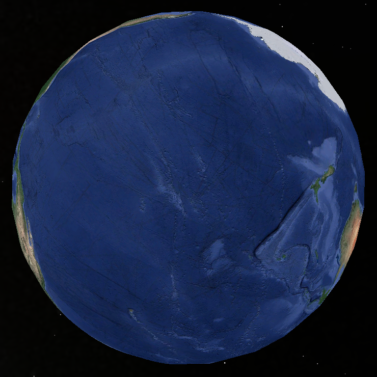 The newly discovered planet, Oceania.