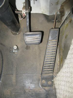 Summer's van pedals.