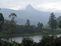 Adam's Peak from Maskeliya