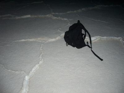 Back pack on salt