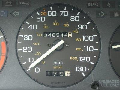 Gold Honda Odometer