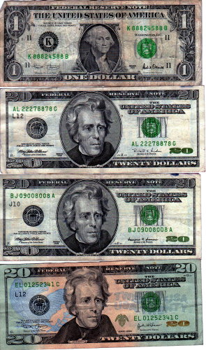 Bills with good serial numbers