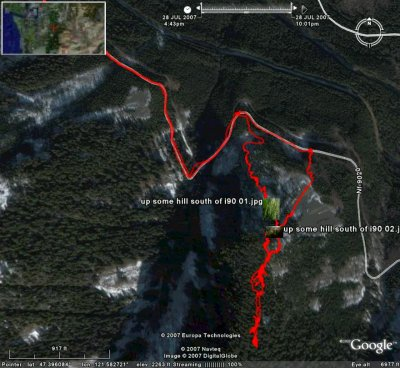 Google Earch snapshot of GPS track