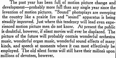 San Jose 1928 editorial about talkies.